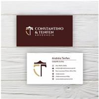 Constantino e Tenfen Advocacia, Logo e Identidade, Advocacia e Direito