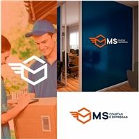 MS COLETAS E ENTREGAS, Logo e Identidade, Logística, Entrega & Armazenamento