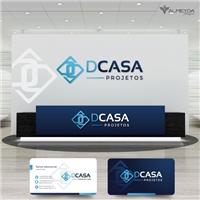 DCASA PROJETOS, Logo e Identidade, Construção & Engenharia