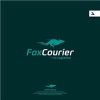 Fox Courier, Logo e Identidade, Logística, Entrega & Armazenamento