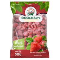 Delícias da Serra - morangos congelados , Embalagens de produtos, Alimentos & Bebidas