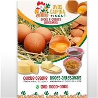 ovos tingui, Peças Gráficas e Publicidade, Alimentos & Bebidas