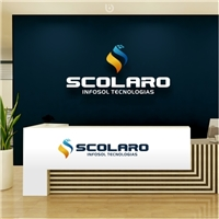 Scolaro InfoSol Tecnologias Ltda. (nova proposta de razão social), Logo e Identidade, Tecnologia & Ciencias