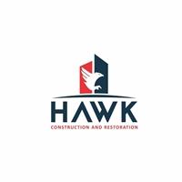 HAWK Construction and Restoration, Logo e Identidade, Construção & Engenharia
