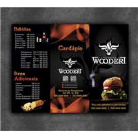 Wooderi Hamburgueria, Peças Gráficas e Publicidade, Alimentos & Bebidas