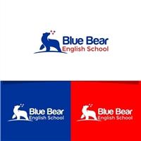 Blue Bear English School, Logo e Identidade, Educação & Cursos