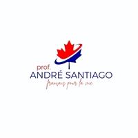 Prof. André Santiago (français pour la vie) - O foco seria no meu nome, Logo e Identidade, Educação & Cursos