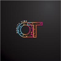 Advanced (nome da empresa, mas a logo ser sobre QT - `Quality Time`, Logo e Identidade, Tecnologia & Ciencias