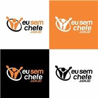 Eu sem chefe Escrever o site www.eusemchefe.com.br embaixo da logo, Logo e Identidade, Computador & Internet