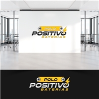 POLO POSITIVO BATERIAS, Logo e Identidade, Automotivo