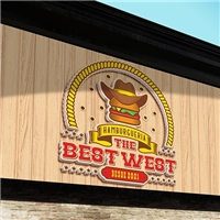 The Best West / Hamburger artesanal, Logo e Identidade, Alimentos & Bebidas