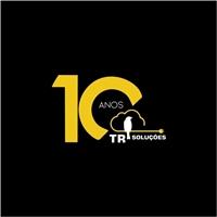 TR Soluções/ selo comemorativo de 10 anos de empresa, Logo e Identidade, Tecnologia & Ciencias