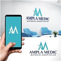 Ampla Medic Comercio de Material Hospitalar e Representação , Logo e Identidade, Saúde & Nutrição
