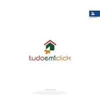 tudoem1click, Logo e Identidade, Limpeza & Serviço para o lar