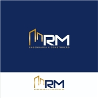 CRM ENGENHARIA E CONSULTORIA (CRM = CONSTRUTORA REAL MINAS), Logo e Identidade, Construção & Engenharia