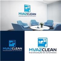 MVAZCLEAN HIGIENIZAÇÃO DE ESTOFADOS, Logo e Identidade, Limpeza & Serviço para o lar