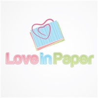 Love in Paper, Logo, Papelaria, scrapbook, convites, lembranças
