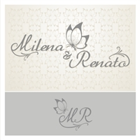 Milena e Renato, Tag, Adesivo e Etiqueta, Logomarca para griffe personalizada do casamento