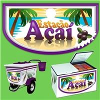 ESTAÇAO AÇAI, Logo, SORVETERIA/LANCHONETE