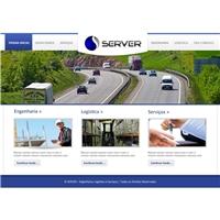 Site da Server - Engenharia, Logística e Serviços, Logo em 3D, Logística, Entrega & Armazenamento