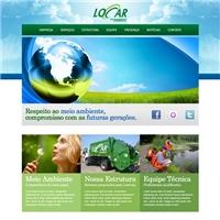Locar Saneamento Ambiental Ltda, Logo em 3D, Limpeza Urbana e Gerenciamento de Resíduos Sólidos