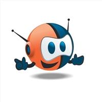 Mascote para empresa de Internet, Folheto ou Cartaz (sem dobra), Provedor de Acesso a Internet