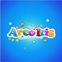 arco iris, Logo e Cartao de Visita, artigos de festa emcartelados, produto comercial.