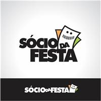 SOCIO DA FESTA, Logo, venda de ingressos pela internet para festas e shows.
