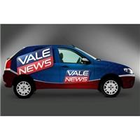 Envelopamento Vale News, Layout para Website, Marketing & Comunicação