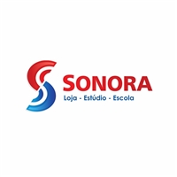 Sonora - Loja - Escola - Estúdio, Logo, Música