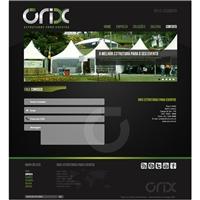 Orix Estruturas para Eventos, Logo em 3D, Planejamento de Eventos e Festas