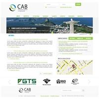 CAB CONTABILIDADAE, Logo em 3D, Contabilidade & Finanças
