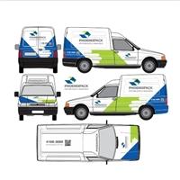 Projeto de Envelopamento do veículo da empresa - Fiorino Furgao!!!, Currículo, Logística, Entrega & Armazenamento