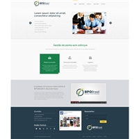 Layout para Site em Wordpress - BPO Brasill, Cartão de visita, Contabilidade & Finanças