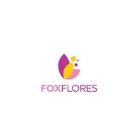Fox Flores - Recriaçao da Logomarca, Tag, Adesivo e Etiqueta, Ambiental & Natureza