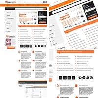 Layout loja virtual Magento Commerce, Logo em 3D, Computador & Internet