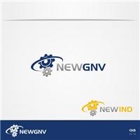 Logo New Gnv, Logo e Cartao de Visita, Metal & Energia