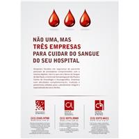 Anúncio de Banco de Sangue e empresas associadas, Kit Festa, Saúde & Nutrição