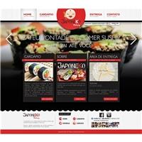 Layout Site Japoneko Delivery, Embalagem (unidade), Alimentos & Bebidas