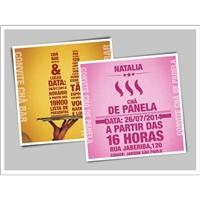 Convite Chá Bar  - Natalia & Lucas, Kit Mega Festa, Planejamento de Eventos e Festas