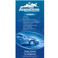 Acqua Clean estetica automotiva - flyer, Kit Mega Festa, Automotivo