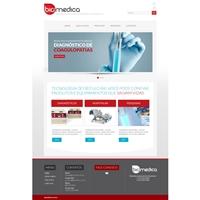 Site para empresa distribuidora de produtos médicos hospitalares, Logo em 3D, Computador & Internet
