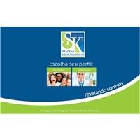 SK IMAGENS ODONTOLOGICAS, Logo em 3D, Saúde & Nutrição