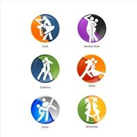 Icones dos RITMOS + Icone Sola Preta + Icone Sola Preta com encaixe., Email Marketing, Viagens & Lazer