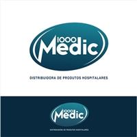 1000Medic Dist. de Medicamentos, Materiais e Equipamentos Hospitalares, Logo e Cartao de Visita, Saúde & Nutrição