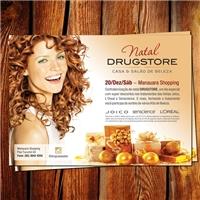 Panfleto Natal-Salao Drugstore, Layout para Website, Metal & Energia