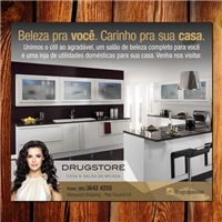 Panfleto Loja Drugstore Casa e Salao de Beleza, Kit Mega Festa, Beleza