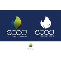 Ecoa SLOGAN - Soluçoes ambientais, Logo e Cartao de Visita, Consultoria de Negócios