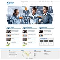 Site do CETE, Logo em 3D, Educação & Cursos