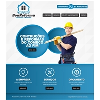 Homepage da BoaReforma Construçoes e Reformas, Embalagem (unidade), Construção & Engenharia